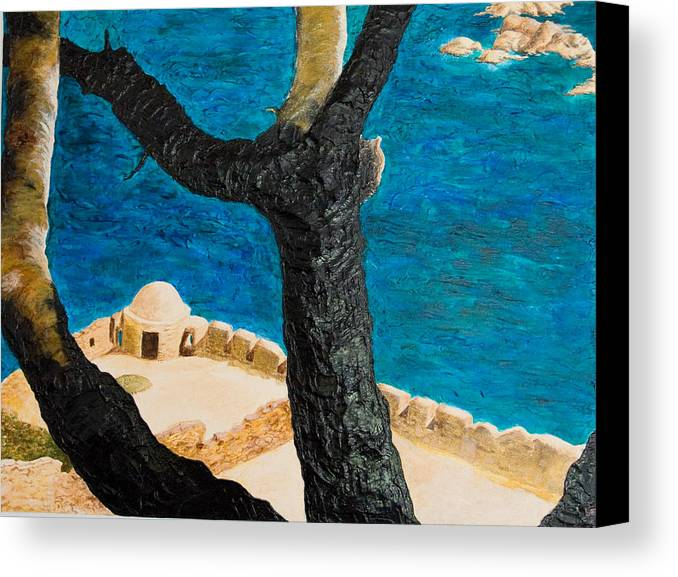 Greece Canvas Print featuring the painting Crete Island by Julia Collard