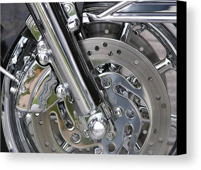 Motorcycle Canvas Print featuring the photograph Crome by Jim Derks