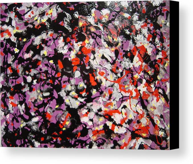 Canvas Print featuring the painting Crowd by Biagio Civale