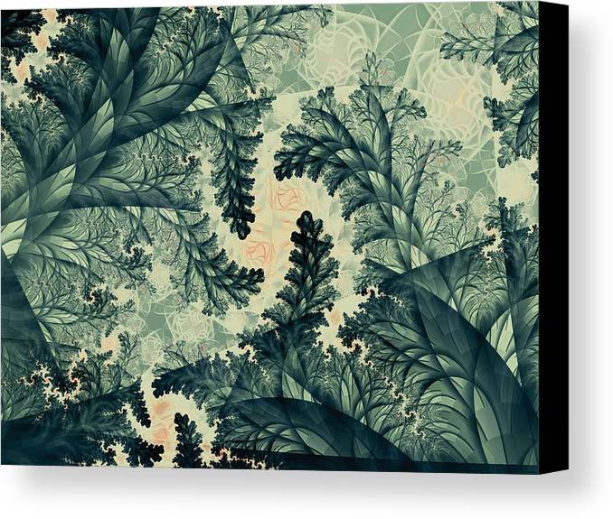 Plant Canvas Print featuring the digital art Cubano Cubismo by Casey Kotas