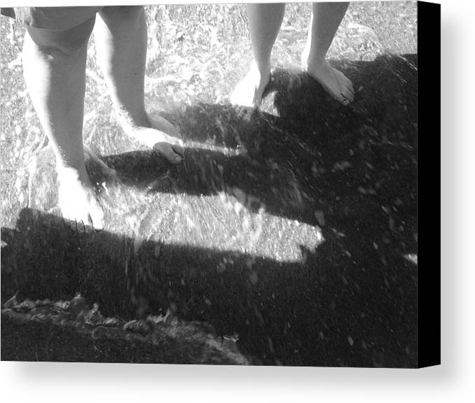 Feet Canvas Print featuring the photograph Cute Feet by Scarlett Royal