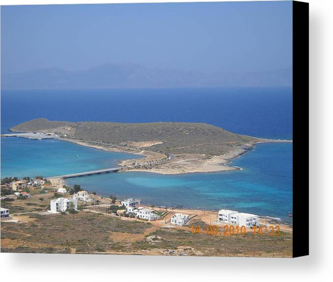 Canvas Print featuring the photograph Cythera Island by Helen Tomprou