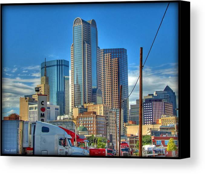 Dallas Canvas Print featuring the photograph Dallas Morning Skyline by Farol Tomson