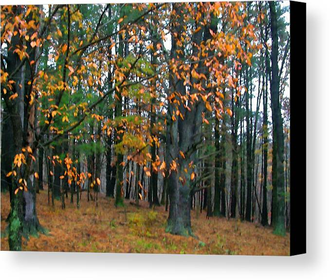 Autumn Canvas Print featuring the painting Dancing Leaves by Paul Sachtleben