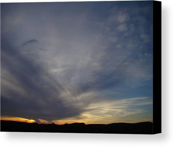 Dark Canvas Print featuring the photograph Dark Sunset Four by Ana Villaronga