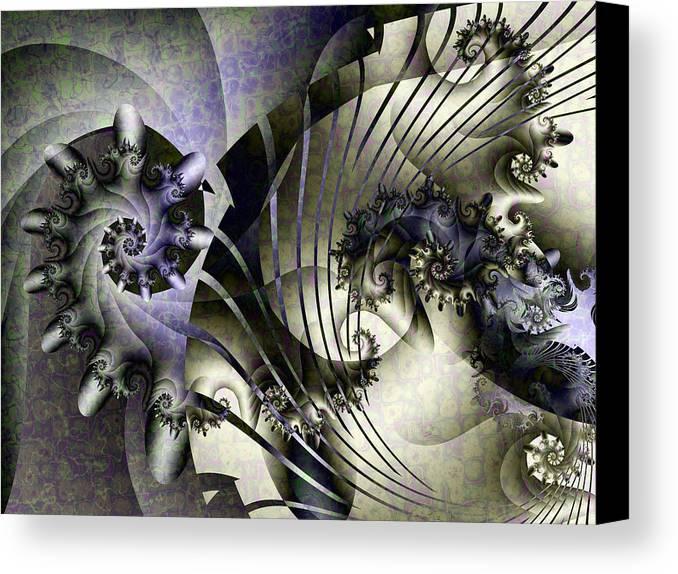Fractal Canvas Print featuring the digital art David's Lyre by David April