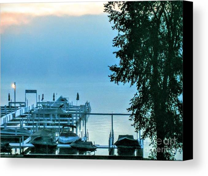 Dawn Canvas Print featuring the photograph Dawn At Bay Colony by Jane Butera Borgardt