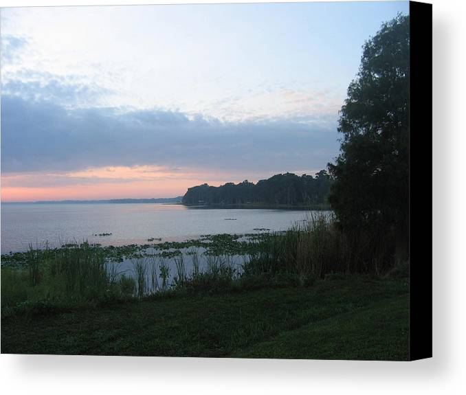 Sunrise-sunset Photographs Canvas Print featuring the photograph Dawn Over West Cove by Frederic Kohli