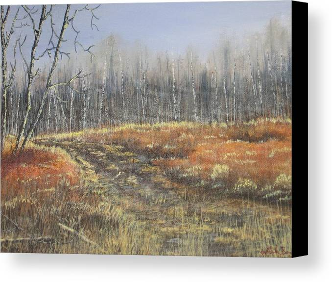 Landscape Canvas Print featuring the painting Days Gone By by Sheila Banga