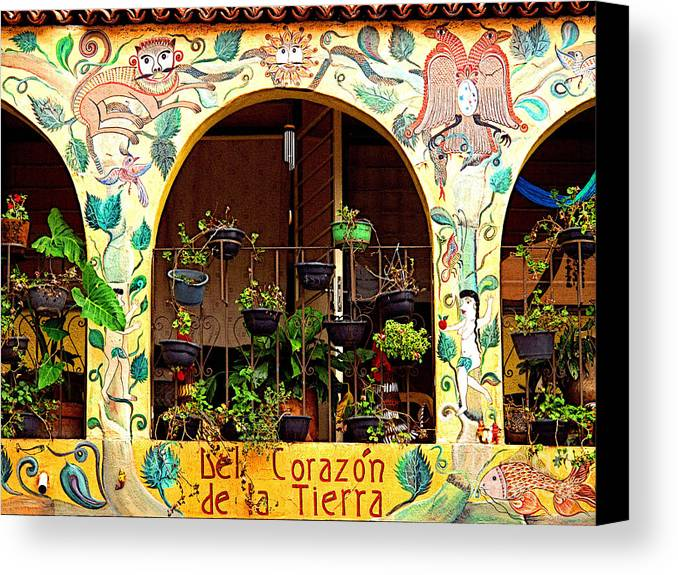 Tlaquepaque Canvas Print featuring the photograph de la Tierra by Mexicolors Art Photography