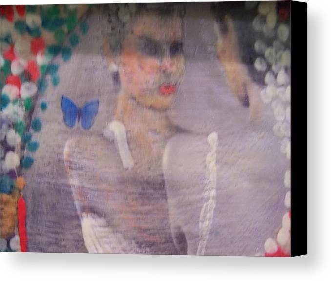 Bride Canvas Print featuring the mixed media Decision by Geraldine Liquidano