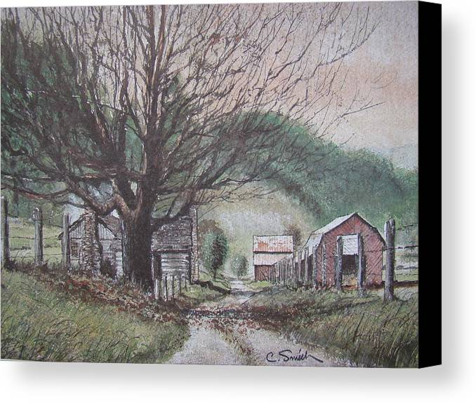 Deep Gap Canvas Print featuring the painting Deep Gap by Charles Roy Smith