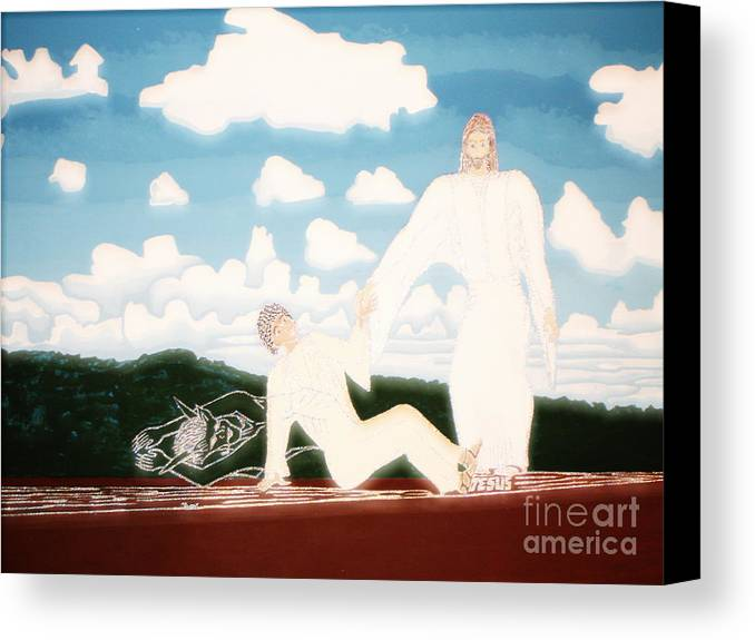Deliver Me Canvas Print featuring the painting Deliver Me Extra Bright by Daniel Henning