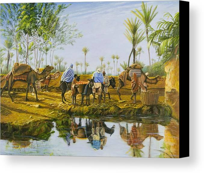 Desert Canvas Print featuring the painting Desert Gold by Christopher Oakley