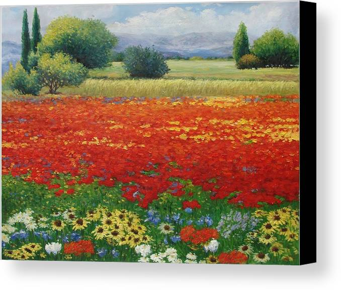Impression Canvas Print featuring the painting Destiny by Aziz Mohammed