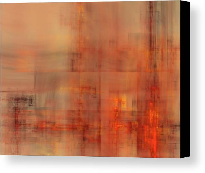 Fractal Canvas Print featuring the digital art Docklands Sunset by Ian Duncan Anderson