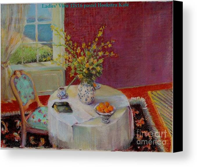 Interior Canvas Print featuring the painting Dorothy S View  Copyrighted by Kathleen Hoekstra