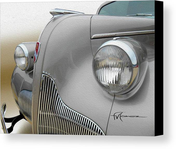 Classic Automobiles Canvas Print featuring the photograph Bulgin' Big Eyed Buick by Felipe Gomez