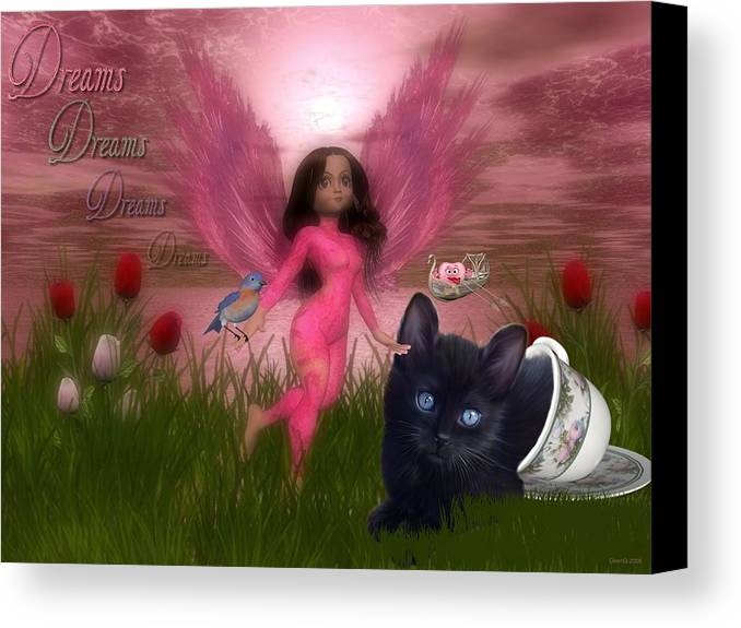 Fairy Canvas Print featuring the digital art Dreams by Morning Dew