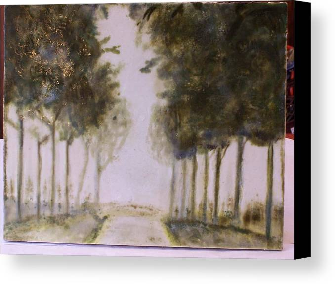 Landscape Canvas Print featuring the painting Dreamy Walk by Karla Phlypo-Price