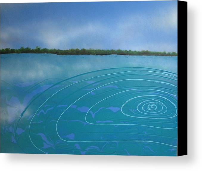 Sea Canvas Print featuring the painting Drop In The Ocean by Joan Stratton