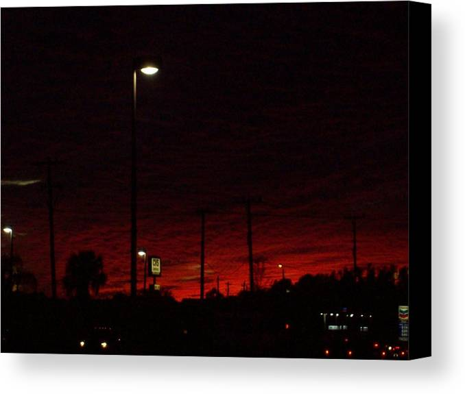Night Canvas Print featuring the photograph Dusk Heading Home by Christine Ullmann