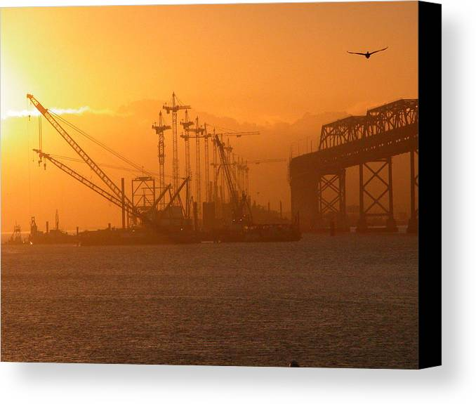 Sunrise Canvas Print featuring the photograph Early Morning by Jerry Patchin