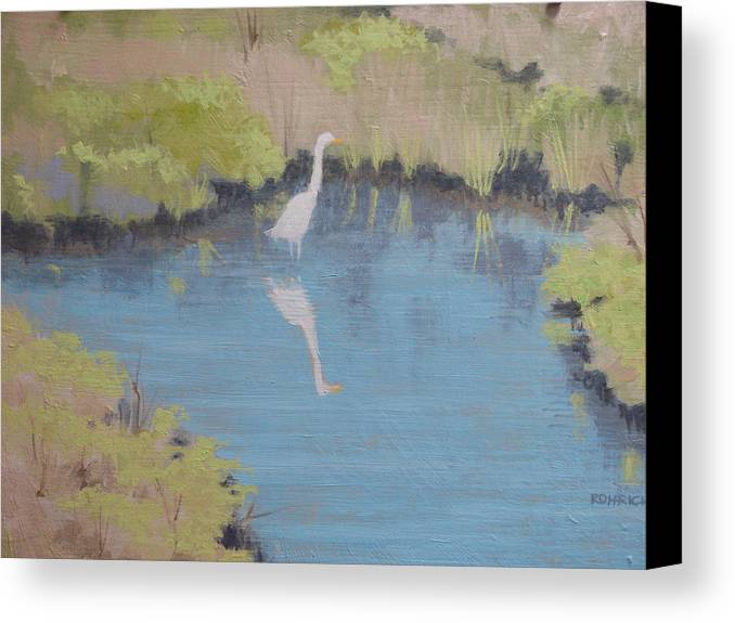 Pond Canvas Print featuring the painting Early Spring by Robert Rohrich