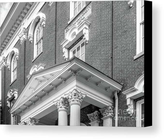 Eastern Kentucky University Canvas Print featuring the photograph Eastern Kentucky University Crabbe Library Detail by University Icons
