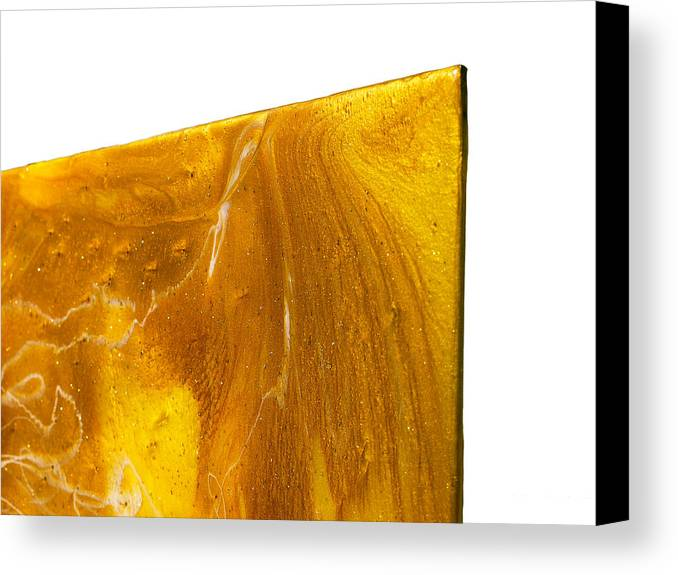 Paul Tokarski Canvas Print featuring the painting Edge Close Up Of Autumn Reflections by Paul Tokarski