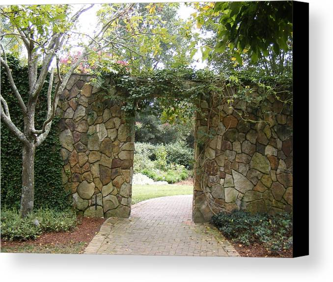 Rock Canvas Print featuring the photograph Enchanted by James and Vickie Rankin