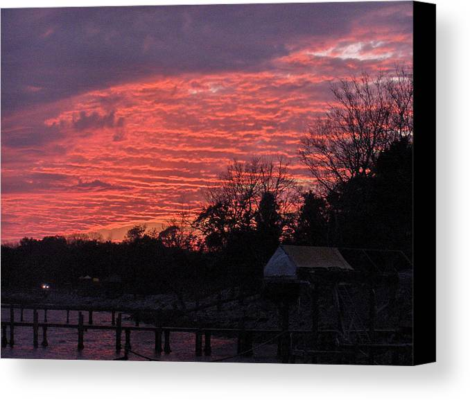 Sunset Canvas Print featuring the photograph End Of Day by Nicole I Hamilton