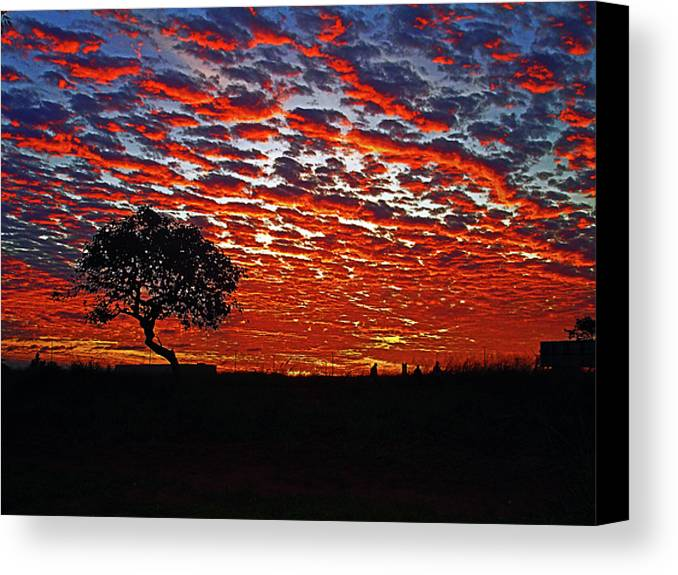 Sunset Canvas Print featuring the photograph End Of The Day by Jose Carlos Patricio