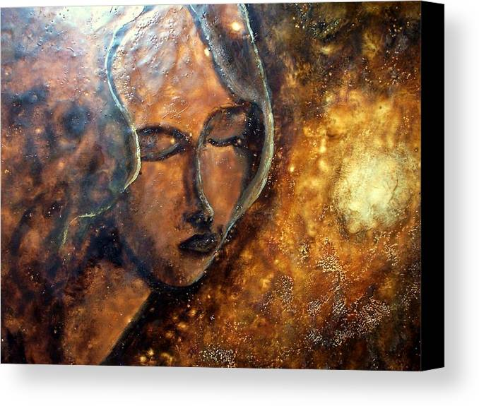 Portrait Canvas Print featuring the painting Enlightenment by Karla Phlypo-Price