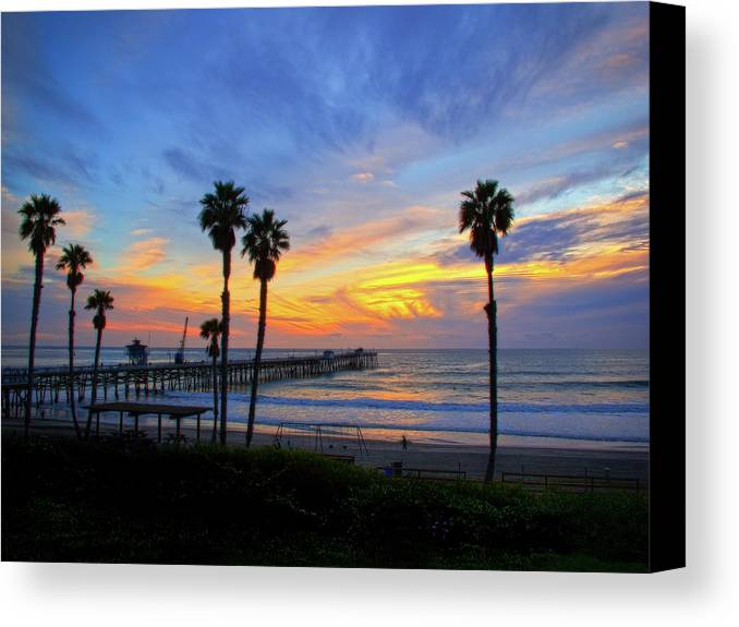 Pacific Ocean Canvas Print featuring the photograph Evening Light by Carl Jackson