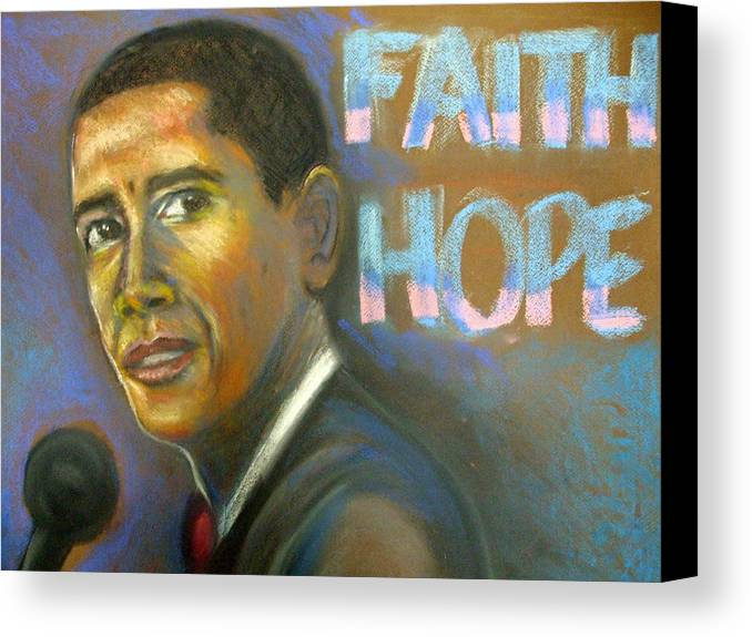 Canvas Print featuring the drawing Faith And Hope by Jan Gilmore