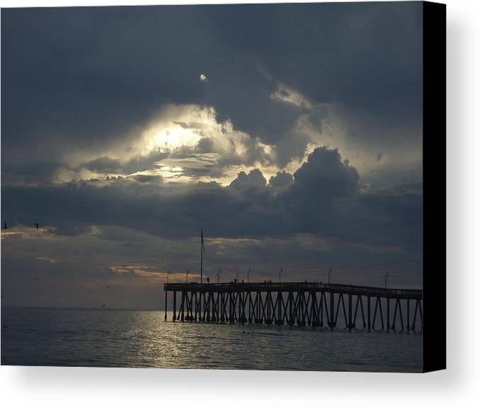 Canvas Print featuring the photograph Fall Sunset by Liz Vernand