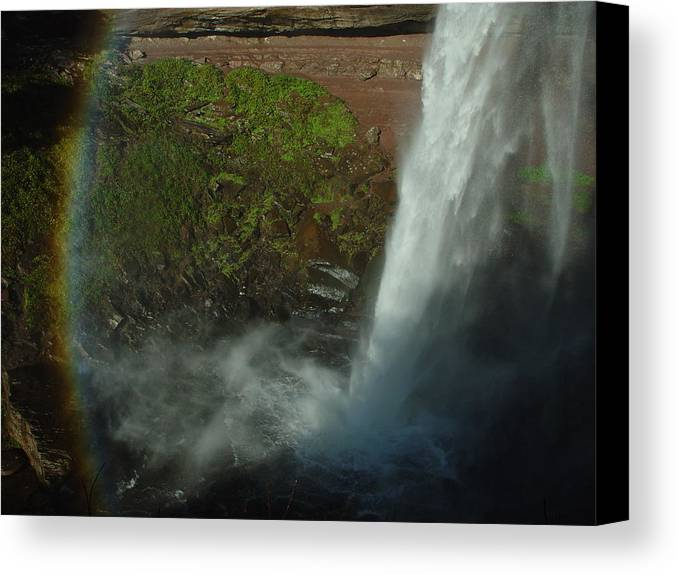 Nature Canvas Print featuring the photograph Falls 1 by Eric Workman