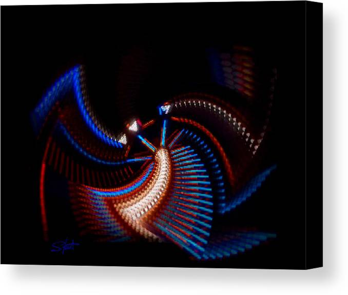 Chaos Canvas Print featuring the photograph Fan Dance by Charles Stuart