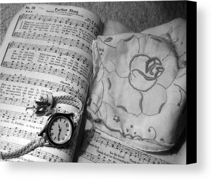 Song Book Canvas Print featuring the photograph Farther Along by Keri Renee