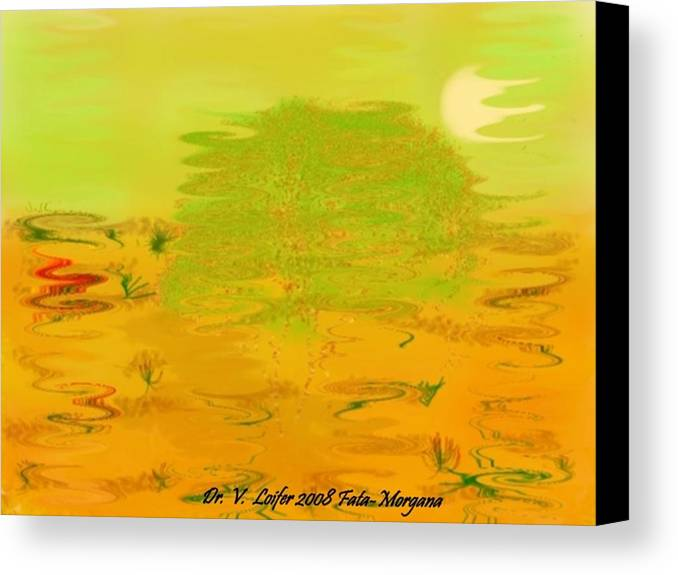 Illusions Canvas Print featuring the digital art Fata-morgana by Dr Loifer Vladimir