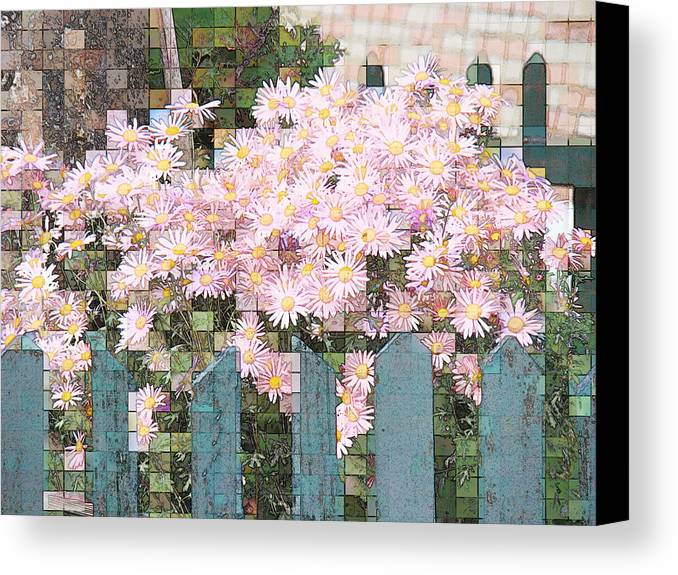 Photgraph Canvas Print featuring the photograph Fenced Mosaic by Tingy Wende