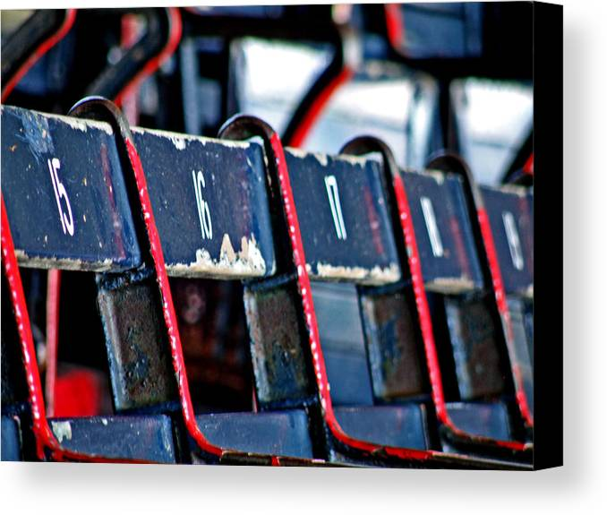 Fenway Park Canvas Print featuring the photograph Fenway by Donna Shahan