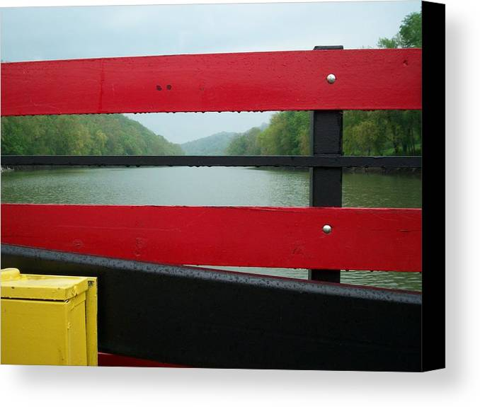 River Canvas Print featuring the photograph Ferryride by Karen Thompson