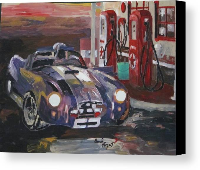 Ford Canvas Print featuring the painting Fill Er Up by David Poyant Paintings