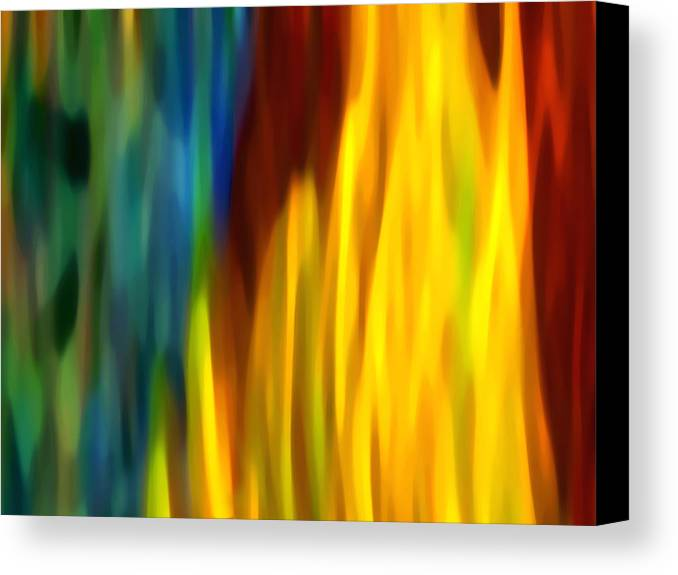 Fire Canvas Print featuring the painting Fire And Water by Amy Vangsgard