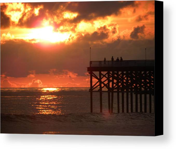 Seascape Canvas Print featuring the photograph Fire And Water by John Wilson