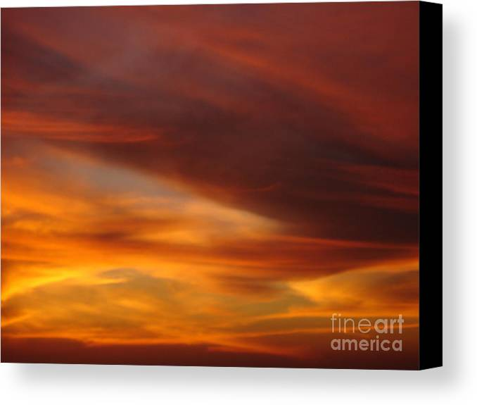 Sunset Canvas Print featuring the photograph Fire In The Sky 2 by Chad Natti
