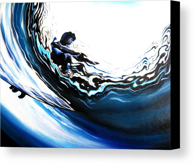 Surf Canvas Print featuring the painting Fish Eye by Ronnie Jackson