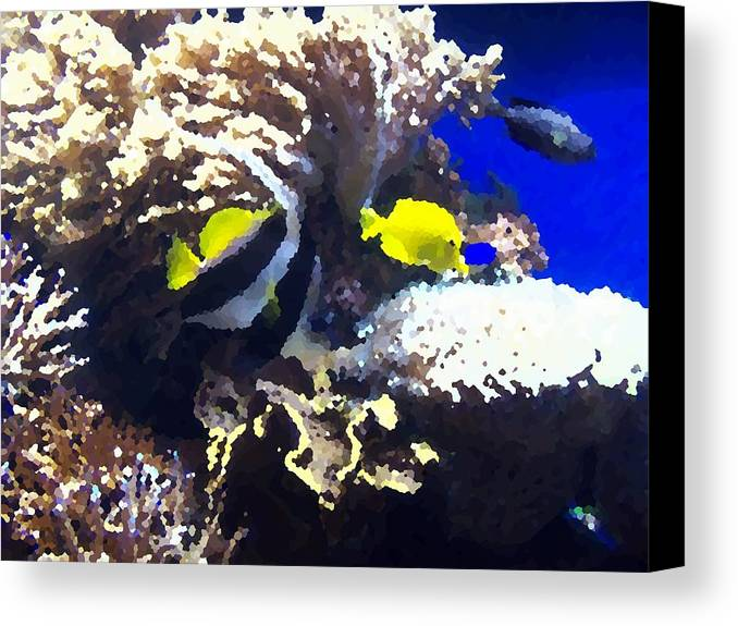 Fish Canvas Print featuring the digital art Fish by Rodger Mansfield